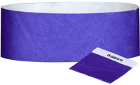 "A 1"" Tyvek® with stub solid Purple wristband"