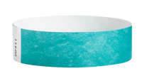 "A Tyvek®  3/4"" x 10"" Sheeted Solid Caribbean Blue wristband"