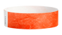 "A Tyvek®  3/4"" x 10"" Sheeted Solid Coral Red wristband"