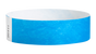 "A Tyvek®  3/4"" x 10"" Sheeted Solid Neon Blue wristband"