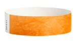 "A Tyvek®  3/4"" x 10"" Sheeted Solid Neon Orange wristband"