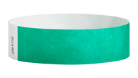 "A Tyvek®  3/4"" x 10"" Sheeted Solid Pantone Green wristband"