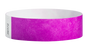 "A Tyvek®  3/4"" x 10"" Sheeted Solid Pantone Purple wristband"