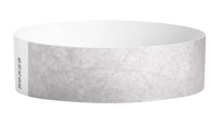 "A Tyvek®  3/4"" x 10"" Sheeted Solid Silver wristband"