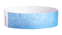 "A Tyvek®  3/4"" x 10"" Sheeted Solid Sky Blue wristband"