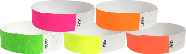 "A Tyvek® 3/4"" Solid Combo Pack 2 Wristbands"