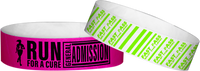 "Custom Tyvek® 3/4"" x 10"" Solid One Color Imprint Wristbands"