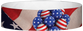 "Tyvek® 3/4"" x 10"" Fourth Of July pattern wristbands"