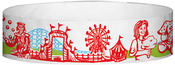 "A Tyvek® 3/4"" X 10"" Carnival wristband"