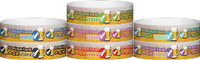 "A Tyvek® 3/4"" X 10"" Drinking Age Verified Beer Glass Wristbands"