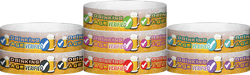 "Tyvek® 3/4"" x 10"" Drinking Age Verified Beer Glass pattern wristbands"