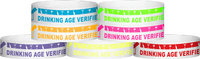 "Tyvek® 3/4"" X 10"" DAV Drinking Age Verfication Wristbands"