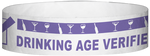 "A Tyvek® 3/4"" X 10"" DAV Drinking Age Verfication Purple wristband"