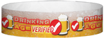 "A Tyvek® 3/4"" X 10"" Drinking Age Verified Beer Glass Red wristband"