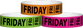 "Tyvek® 3/4"" x 10"" Friday pattern wristbands"