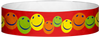 "A Tyvek® 3/4"" X 10"" Happy Multicolored Wristband"