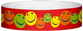 "Tyvek® 3/4"" x 10"" Multicolor Happy Face pattern wristbands"