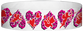 "Tyvek® 3/4"" x 10"" Hearts pattern wristbands"