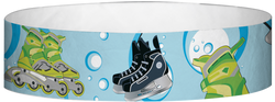 "Tyvek® 3/4"" x 10"" Ice And Roller Skates pattern wristbands"