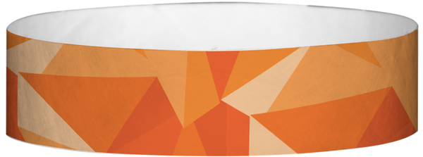 "A Tyvek® 3/4"" X 10"" Mosaic Orange wristband"