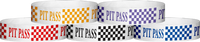 "Tyvek® 3/4"" x 10"" Pit Pass Checker pattern wristbands"
