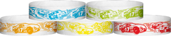 "Tyvek® 3/4"" x 10"" Race Track pattern wristbands"