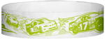 "A Tyvek® 3/4"" X 10"" Race Track Neon Lime wristband"