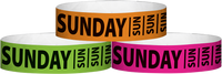 "A Tyvek® 3/4"" X 10"" Sunday wristbands"