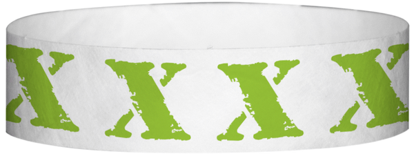 "A Tyvek® 3/4"" X 10"" X Neon Lime wristband"