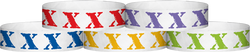 "Tyvek® 3/4"" x 10"" XXX pattern wristbands"