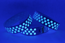 "Tyvek® 3/4"" x 10"" Polka Dot Radiance pattern wristbands"