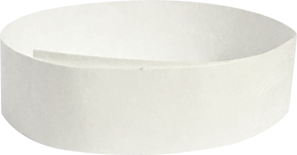"Tyvek® 3/4"" x 10"" White Sheeted Special No-Numbering Wristbands"