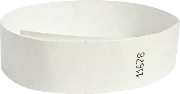 "A Tyvek® 3/4"" solid White wristband"