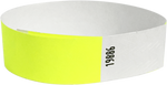 "A 3/4"" Tyvek® litter free solid Yellow Glow wristband"