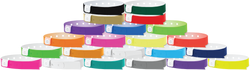 "Vinyl 1/2"" x 11 1/2"" 1-Stub Snapped Wristband Solid wristbands"