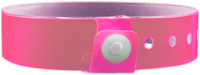 "A Vinyl 3/4"" x 10"" L-Shape Snapped Solid Edge Glow Neon Pink wristband"