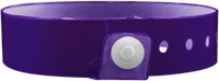 "A Vinyl 3/4"" x 10"" L-Shape Snapped Solid Edge Glow Purple wristband"
