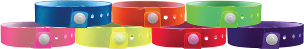 "A Vinyl 3/4"" x 10"" L-Shape Snapped Solid Edge Glow wristbands"