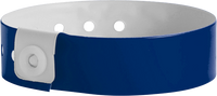 "A Vinyl 3/4"" x 10"" L-Shape Snapped Solid Navy Blue wristband"