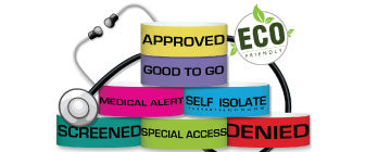 "3/4"" ECO Galaxy Medical Wristband"