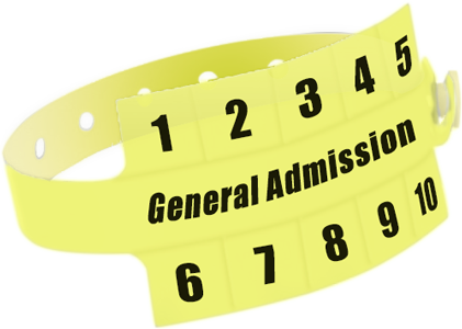 "Custom Vinyl 1 1/4"" x 9 1/4"" Slim 10-Stub Snapped Solid wristbands"