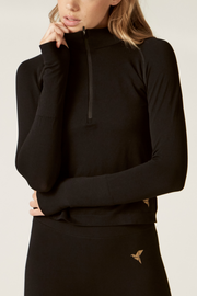 Long Sleeve Sports Top I Women's High Performance and Eco-friendly Activewear I Bella Eco Australia I Black I Medium
