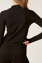 Long Sleeve Sports Top Back I Women's High Performance and Eco-friendly Activewear I Bella Eco Australia I Black I Medium