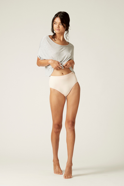 Hi Waist Undie I The Bronte I Women's High Performance Eco-friendly Underwear I Bella Eco Australia I Blush I Small