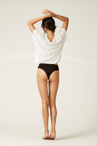 Bikini Cheeky Back I The Bondi I Women's Comfortable Eco-friendly Underwear I Bella Eco Australia I Black I Small
