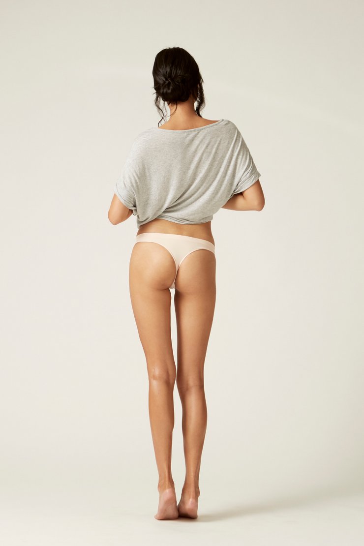 Thong Back I The Newport I Comfortable and Sustainable Underwear I Bella Eco Australia I Blush I Small
