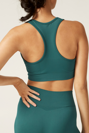 Sports Crop Back I The Noosa I Women's Comfortable and Eco-Friendly Bra I Bella Eco Australia I Teal I Small