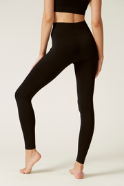 Lifestyle Leggings Back I Women's High Performance and Eco-friendly Activewear I Bella Eco Australia I Black I Medium