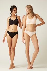 Bralette I The Byron I Women's Comfortable Sustainable Bras I Bella Eco Australia I Black and Blush I Small