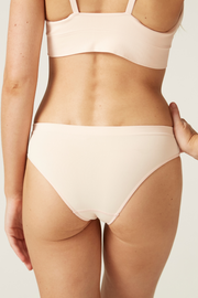 Bikini Cheeky Back I The Bondi I Comfortable Eco-friendly Underwear I Bella Eco Australia I Blush I Medium